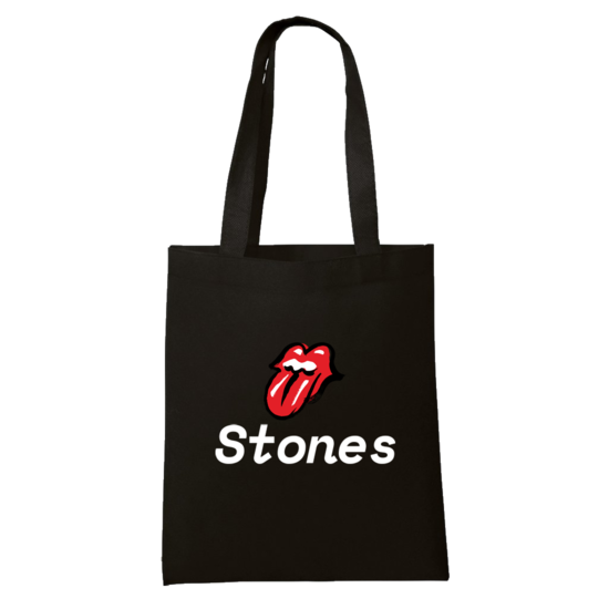 The Rolling Stones: Black Tote Bag
