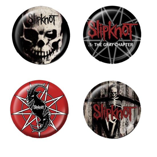 Slipknot: The Gray Chapter four Piece Badge Set