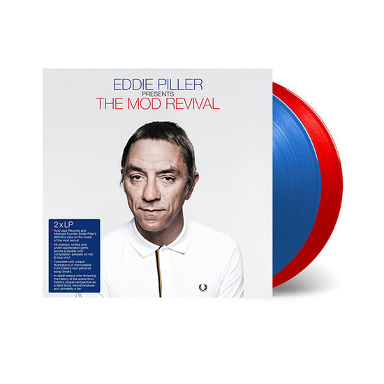 Various Artists: Eddie Piller Presents The Mod Revival: 140g Transparent Blue and Red Vinyl