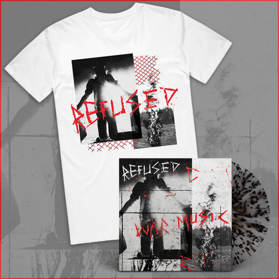 Refused: Vinyl & White T-Shirt Bundle