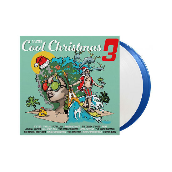 Various Artists: A Very Cool Christmas 3: Limited Edition Crystal Clear & Transparent Blue Coloured Vinyl 2LP