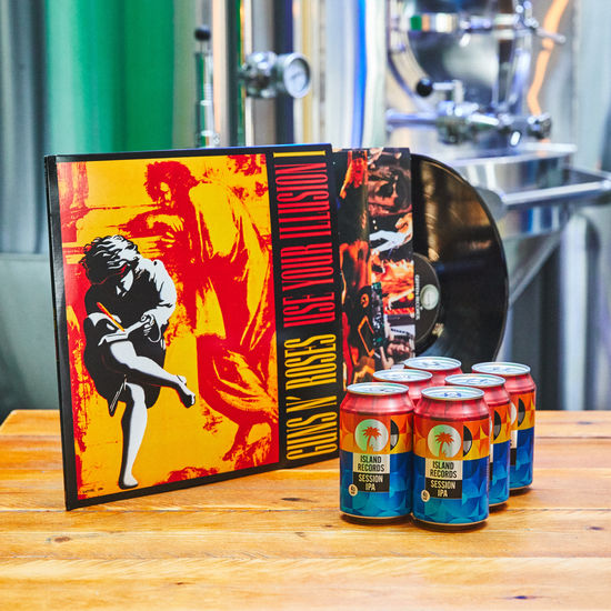 Guns N' Roses: Use Your Illusion Vol One Vinyl + Island Records Session IPA 6 pack