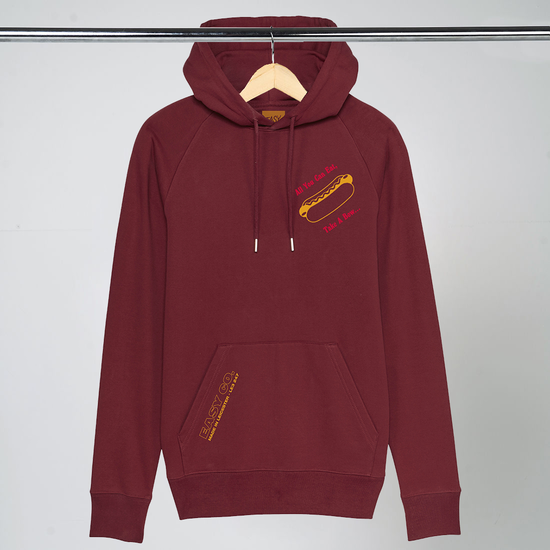 Easy Life: JUNK FOOD HOODIE - RED