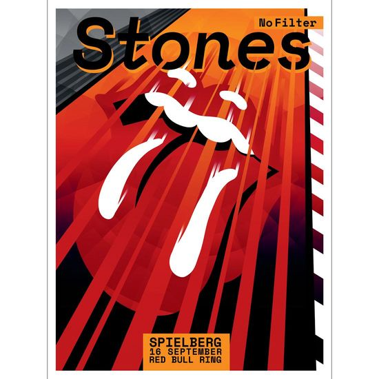 The Rolling Stones: Spielberg Red Bull Ring Print