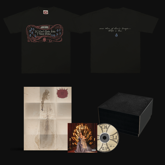 Halsey: If I Can't Have Love, I Want Power- Skeleton T-Shirt & CD Box Set