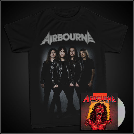 Airbourne: Band T-Shirt & Ltd Edtn CD
