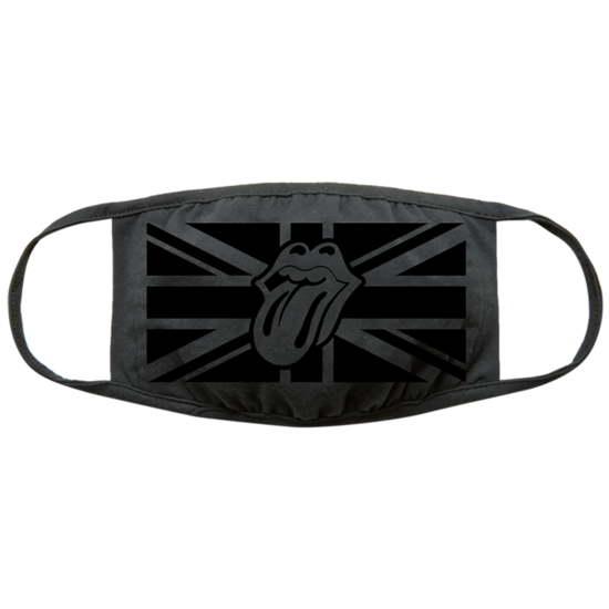 The Rolling Stones: Black on Black Union Jack Face Covering