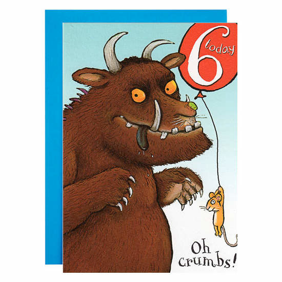 The Gruffalo: 6 Today - Oh Crumbs! Birthday Card