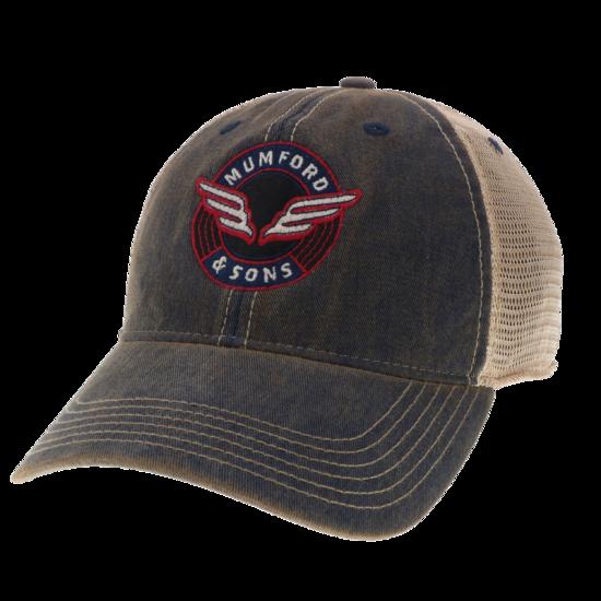 Mumford & Sons : Wing Emblem Vintage Trucker Hat