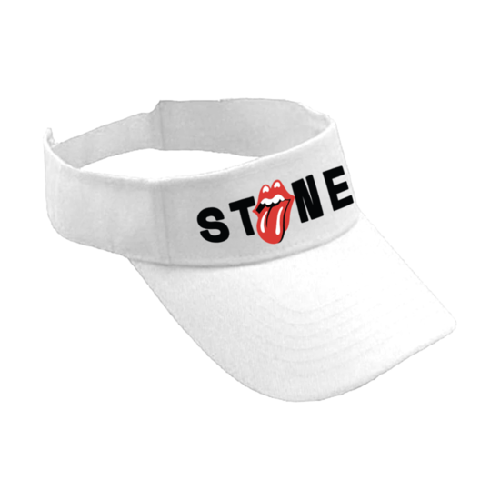 The Rolling Stones: Classic Licks White Visor