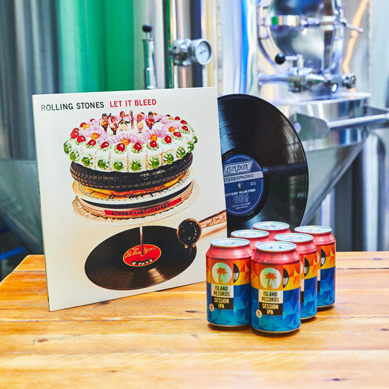 The Rolling Stones: Let It Bleed Vinyl + Island Records Session IPA 6 pack
