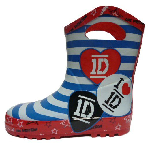 One Direction: 1D Girls Stripe Welly - Size 12