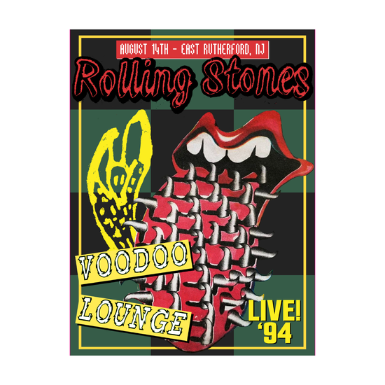 The Rolling Stones: VOODOO LOUNGE '94 NJ A2 LITHOGRAPH