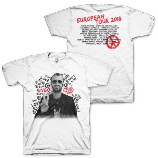 Ringo Starr: European Tour 2018 White Tee - S