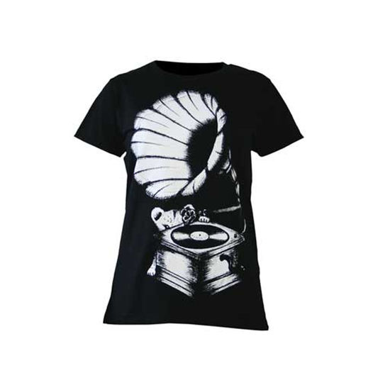 Amy Winehouse: Lioness Gramophone Print Ladies Skinny Fit T-Shirt