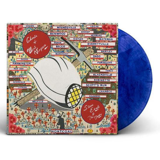 Steve Earle & The Dukes: Ghosts of West Virginia: Blue Black swirl Vinyl LP