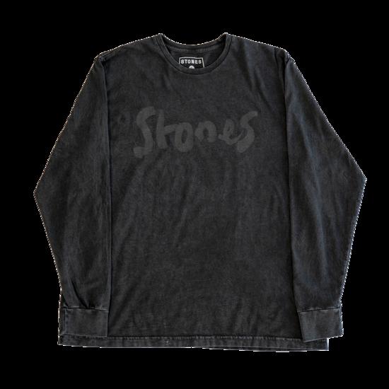 The Rolling Stones: Brush Stroke Stones Washed Longsleeve