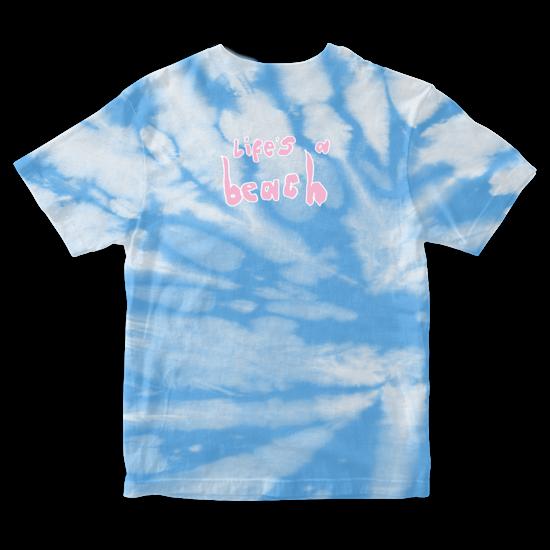 Easy Life: life's a beach: blue skies tie dye tee