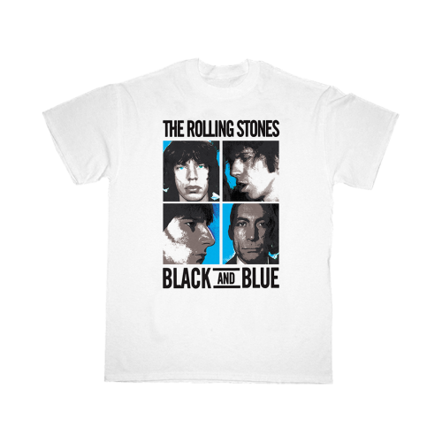 The Rolling Stones: Black and Blue White T-Shirt
