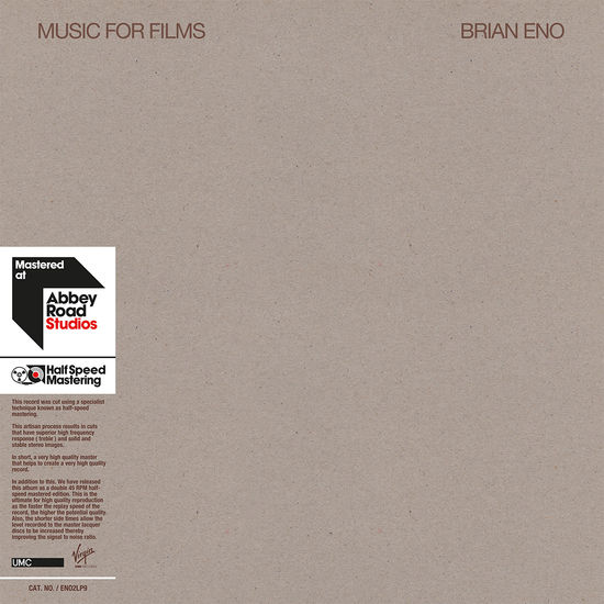 Brian Eno: Music for Films - Half Speed Master
