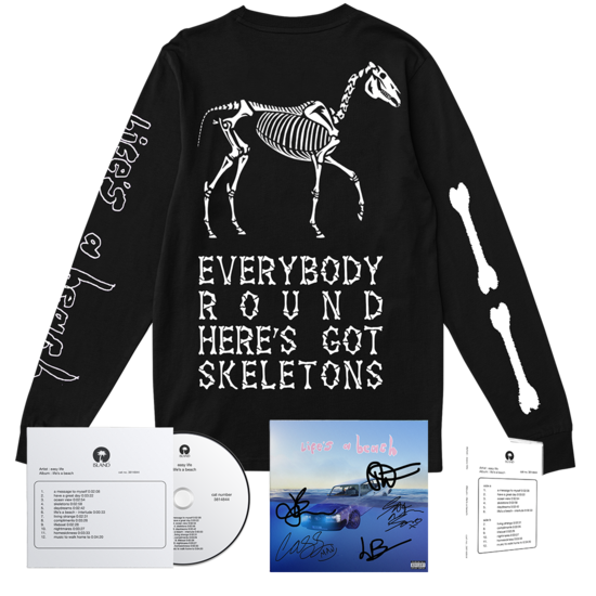 Easy Life: life's a beach: rare skeletons ls bundle + signed artcard
