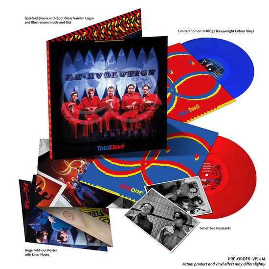 Devo: Total Devo (30th Anniversary Deluxe Edition): 'Happy Sad' Transparent Red + Transparent Blue Vinyl Edition