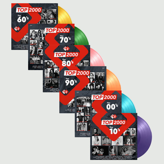 Various Artists: Top 2000 - The 70s, 80s, 90s, 00s & 10s: Limited Edition 12 Disc Colour Vinyl Bundle
