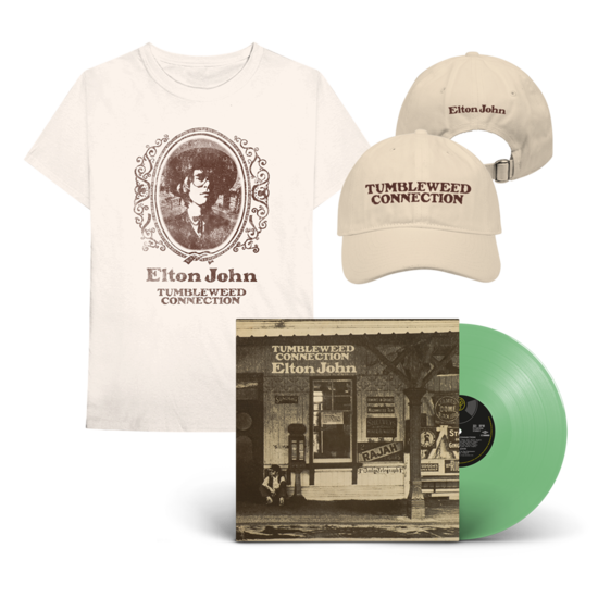 Elton John: Tumbleweed Connection: Exclusive Green Vinyl + T-Shirt + Cap