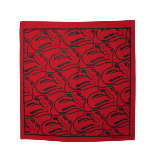 The Rolling Stones: Red / Black Tongue Bandana