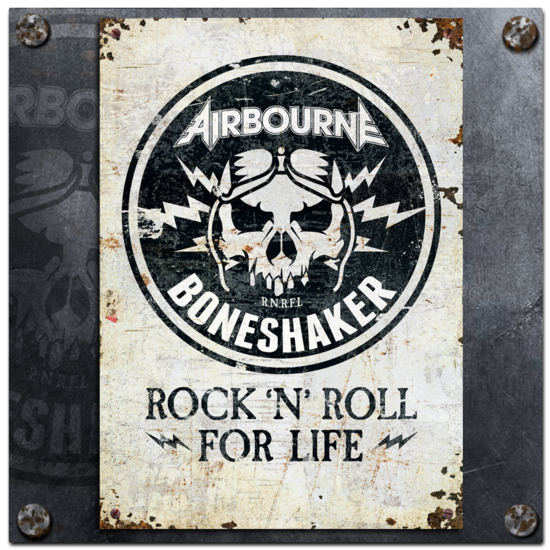 Airbourne: Boneshaker Rock N Roll Poster
