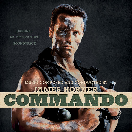 James Horner: Commando: Original Soundtrack: Bone with Black Face Paint Splatter
