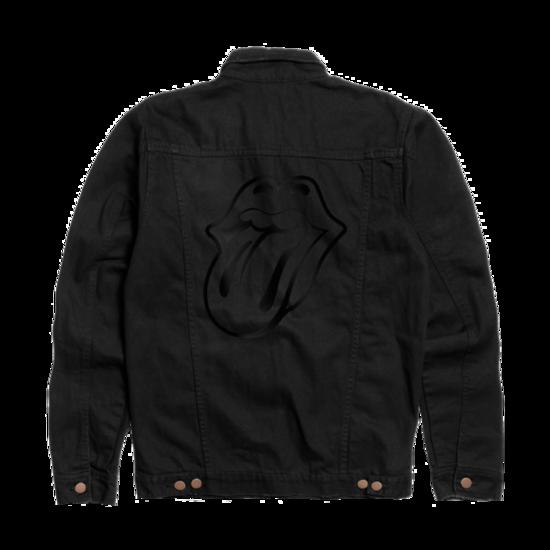 The Rolling Stones: Black on Black Denim Jacket