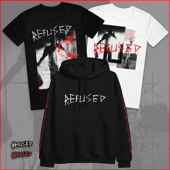 Refused: T-Shirts, Hoodie & Badge Set Bundle