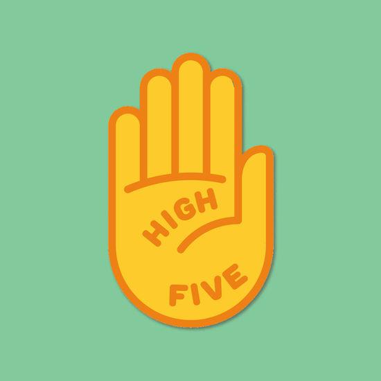 Sigrid: High Five Enamel Pin
