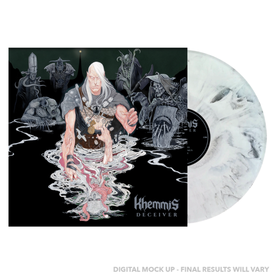 Khemmis: Deceiver: Limited Edition White and Black vinyl LP