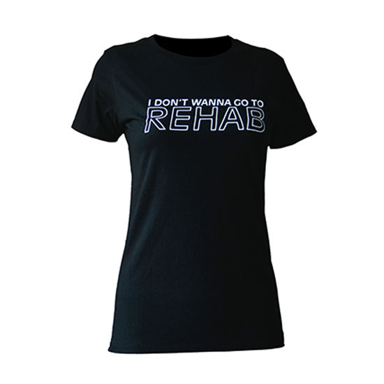 Amy Winehouse: Rehab Ladies Skinny Fit T-Shirt