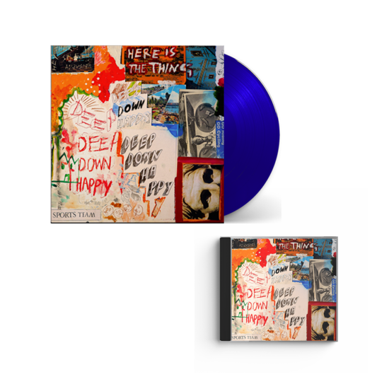 Sports Team: Deep Down Happy: Blue Vinyl + CD