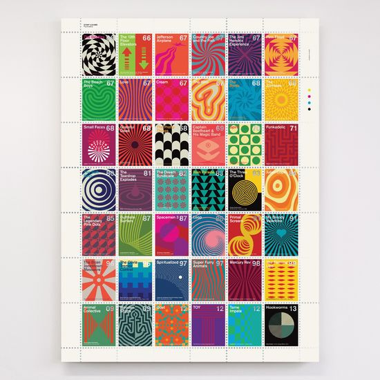 Dorothy: Stamp Albums: Psychedelic Litho Print Poster