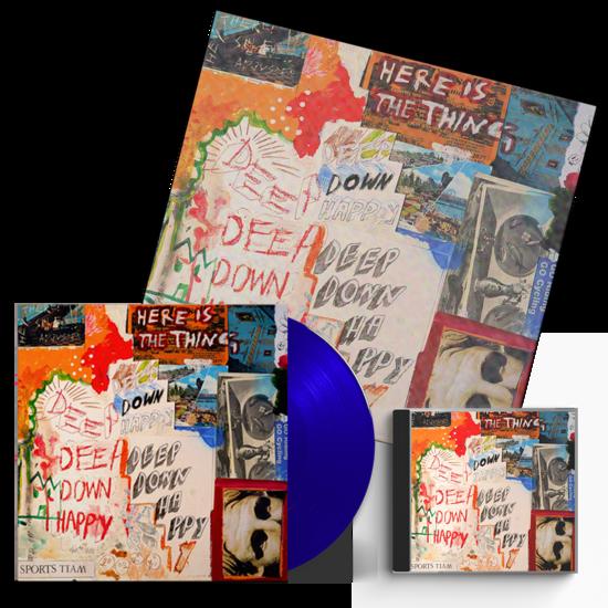 Sports Team: Deep Down Happy: Blue Vinyl, CD + Signed Litho