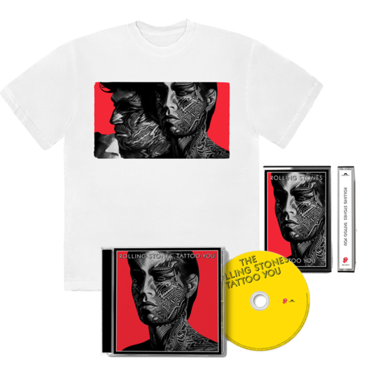 The Rolling Stones: TATTOO YOU: MUSIC + WHITE TEE BUNDLE