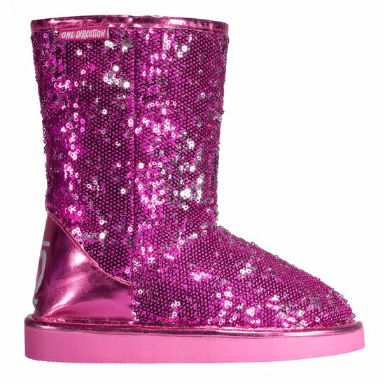 One Direction: 1D Girls Pink Sequin Boot - Size 2