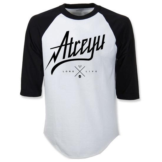 Atreyu: Script 3/4 Sleeve Baseball T-Shirt