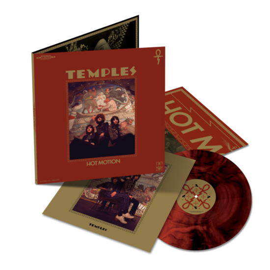 Temples: Hot Motion: Limited Edition Transparent Red and Black Marbled Vinyl LP