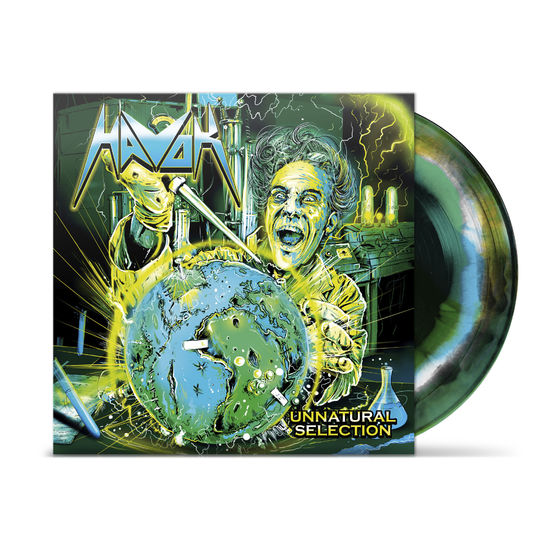 Havok: Unnatural Selection Black / Green with white and blue swirl vinyl