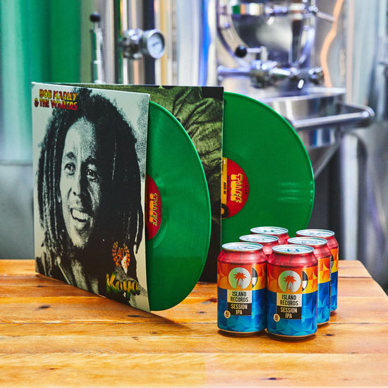 Bob Marley and The Wailers: Kaya Green Coloured Vinyl + Island Records Session IPA 6 pack