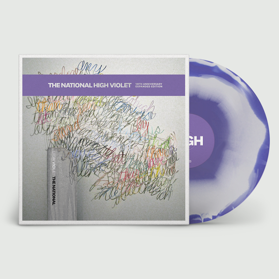 The National: High Violet: 10th Anniversary Expanded Edition White & Violet Marbled Vinyl