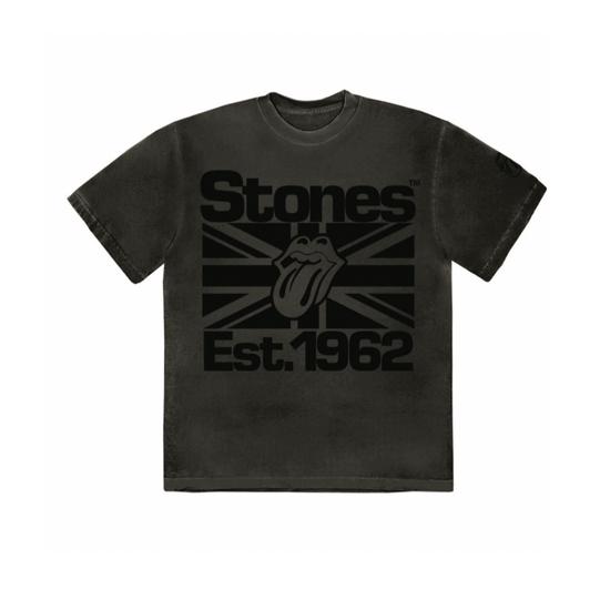 The Rolling Stones: Black on Black Union Jack Lick T-Shirt