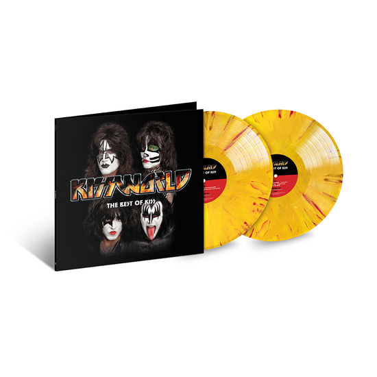 Kiss: Kissworld: Exclusive - Red, Yellow & Orange Marble Coloured Vinyl