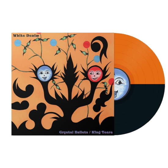 White Denim: Crystal Bullets b/w King Tears: Limited Edition Orange and Black Split Colour Vinyl
