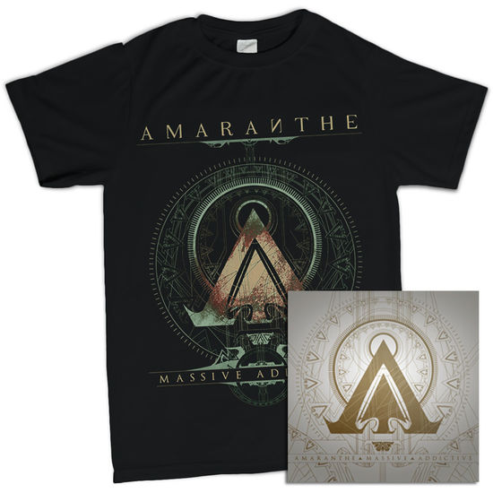 Amaranthe: Massive Addictive Black Tee & Double Vinyl Bundle